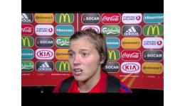 Embedded thumbnail for Engeland vs Spanje 2-0 reactie van Fran (Francesca) Kirby, speelsters van Engeland en Chelsea Ladies