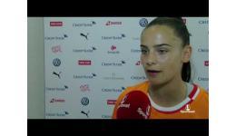 Embedded thumbnail for Meriane Terchoun van Zwitserland na 0-4 tegen Engeland.