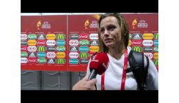 Embedded thumbnail for Nora Berge Holsted na 1-0 verlies vs Nederland