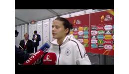 Embedded thumbnail for Aanvoerster Dzsenifer Marozsán Duitsland na 0-2 zege vs Rusland