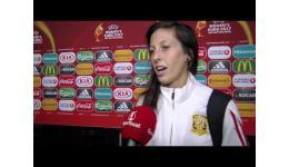 Embedded thumbnail for Vicky Losada van Spanje en Barcelona FC Ladies na 2-0 verlies met Spanje vs Engeland