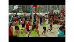 Embedded thumbnail for Sfeerbeeld van het WK Beachkorfbal in Blankenberge waar België goud won...