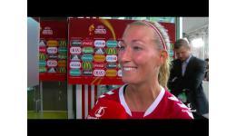 Embedded thumbnail for Denemarken naar halve finale EK - Duitsland huiswaarts de reacties na afloop