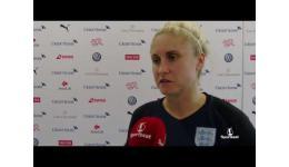 Embedded thumbnail for Steph Houghton na 0-4 winst met Engeland vs Zwitserland