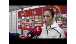 Embedded thumbnail for Sara Doorsoun van SGS Essen en Duitsland na haar EK debuut met Duitsland