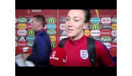 Embedded thumbnail for met Lucie Bronze, verkozen tot speelster van de wedstrijd na Engeland vs Spanje